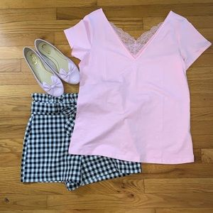 Pink Lace Tee Shirt